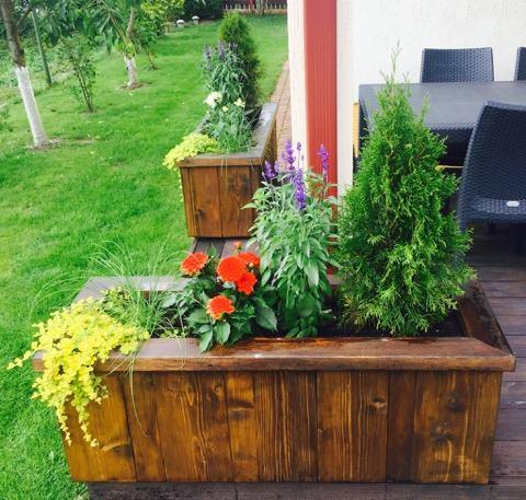 деревянные цветочные ящики Gardenslv
