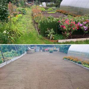 Aizauguša dārza,teritorijas attīrīšana